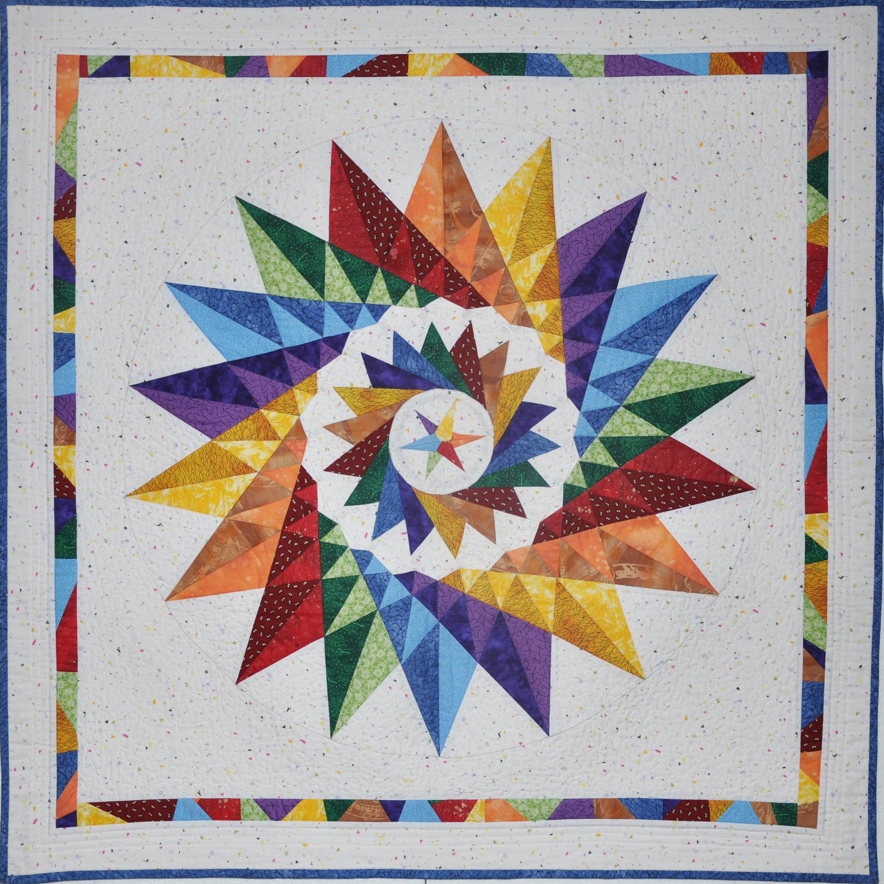 Not a Mariner's Compass - Paper pieced quilt pattern with many variations