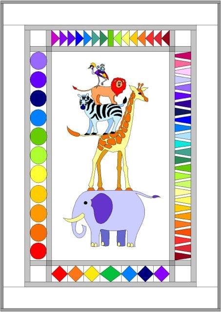 Safari Slumbers - Quilt Pattern with African Zoo animal friends