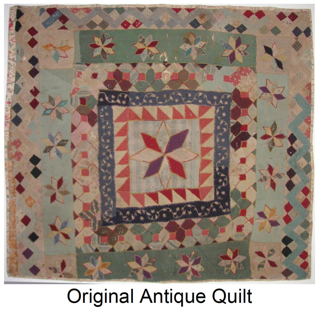 Margery's Medallion - Quilt Pattern - A genuine Australian antique