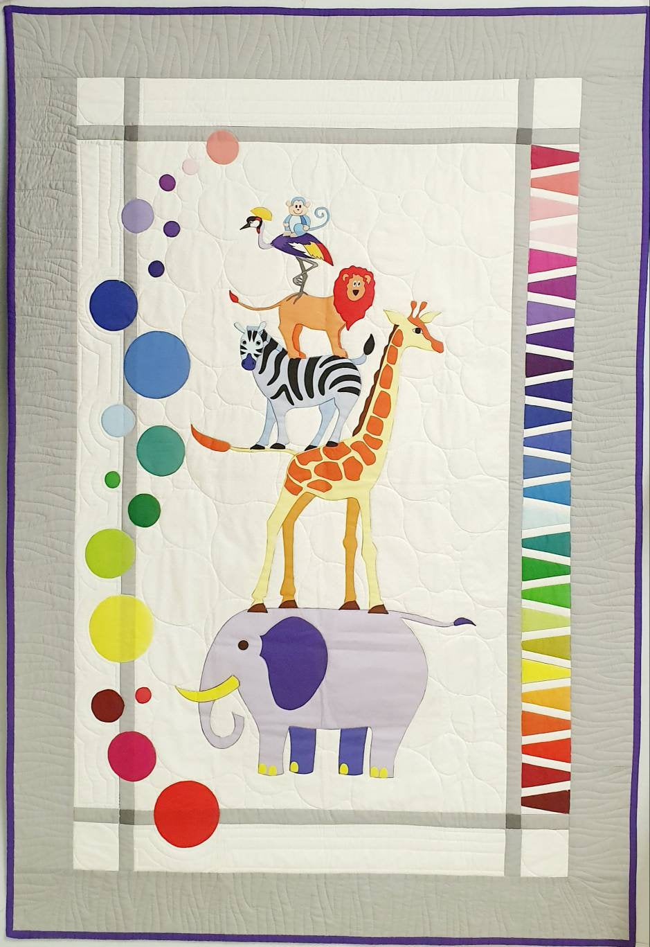Safari Slumbers - Animal Zoo APPLIQUE 'helper' PANEL