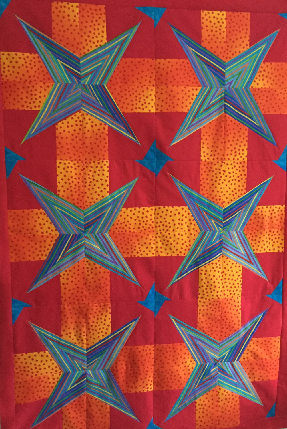 Quilt Pattern - Project Linus Brisbane - STAR STRUCK - Great charity or kids quilt. Quick! Very easy!