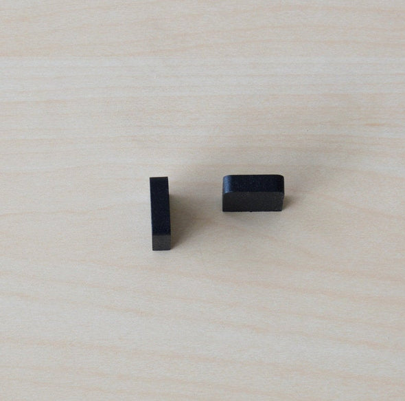 Set of 6 Minimalist Black Cabinet Knob. Black Handle. Black Cabinet Knob. Small Rustic Drawer Knob 7222/3