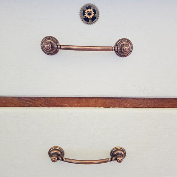 Set of 6 Copper Cabinet Handle. Bohemian Cabinet Hardware. Retro Copper Drawer Handle 9121/2