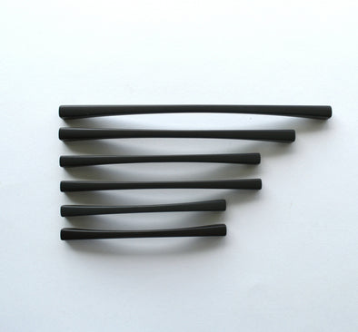 Set of 6 Modern Black Matte Cabinet Pull. Black Cabinet Hardware. Contemporary Handle 715