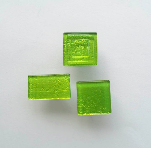 Modern Apple Green Fused Glass Knob. Fresh Green Glass Handle 0038