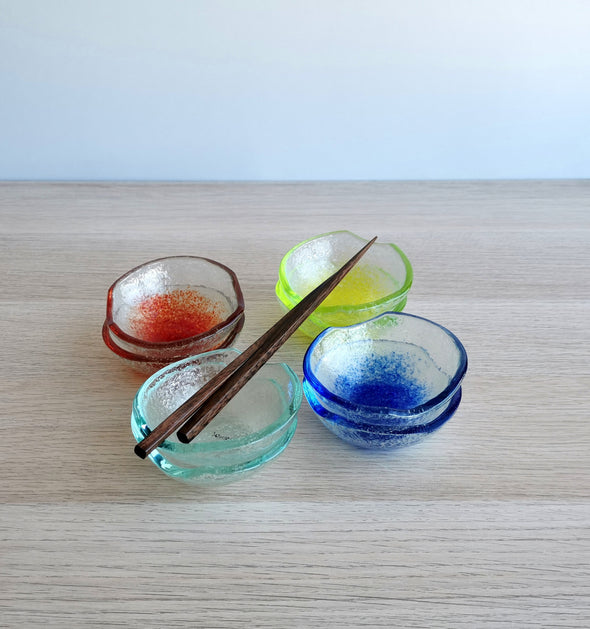 Set of 2 Fused Glass Small Bowls. Soy Sauce Bowl. Small Soy Sauce Bowls. Small Bowls