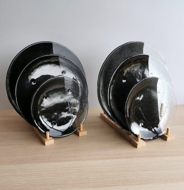 Set of 2 Twilight Fused Glass Dessert / Main Course / Platter Dish. Set of 2 Twilight Glass Plates