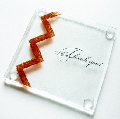 Wedding Favor Gift. Fused Glass Coaster. Thank You Gift. Maid of Honor Gift. Wedding Gift
