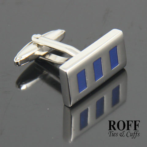 Rectangle Blue Blocks Cufflinks (FL010-Y2)