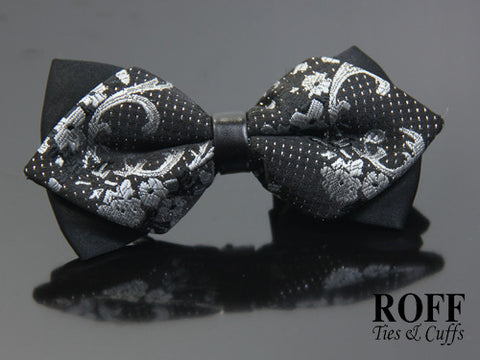 Pointed Tips Motif Bow Tie