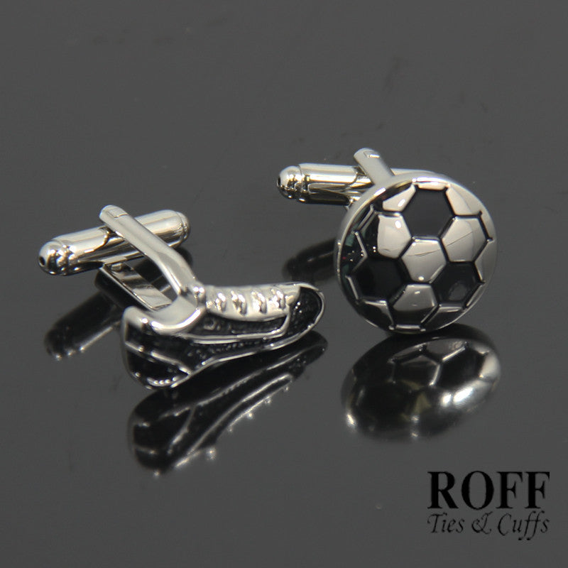 Soccer Ball and Boot Cufflinks (NV127-Y3)
