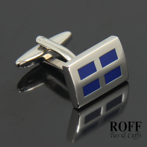 Dark Blue Windows Cufflinks (FL003-Y2)