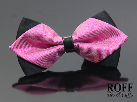 Pointed Tips Plain Bow Tie