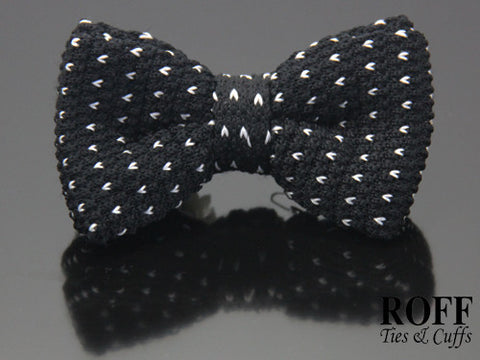 Knitted Motif Bow Tie
