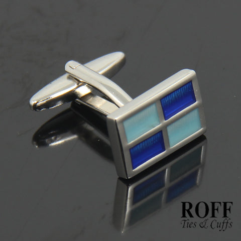 Blue Tones Windows Cufflinks (FL004-Y2)