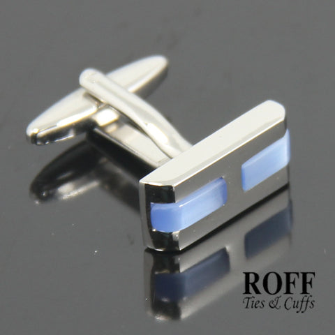 Sleek Blue Stones Cufflinks (FL005-Y2)