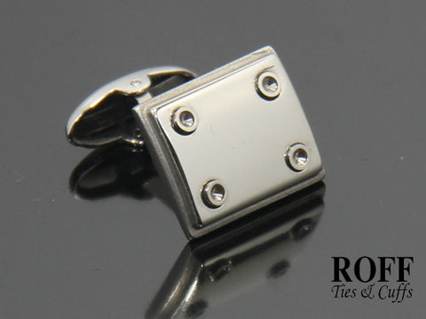 Rivet Nooks Stainless Steel Cufflinks