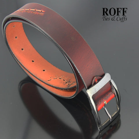 Casual Wavy Lines Leather Belt