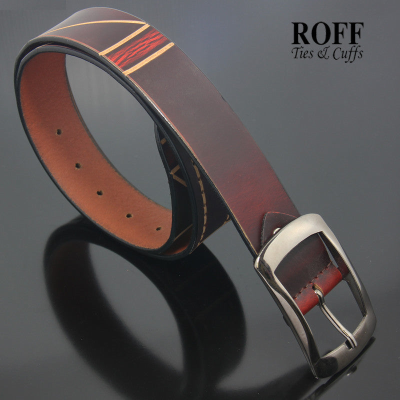 Casual Concept Pattern Leather Belt