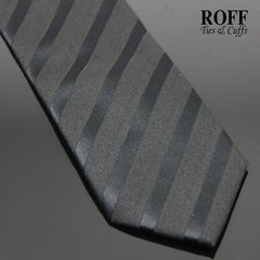 Black Tie with Contrast Texture Stripes
