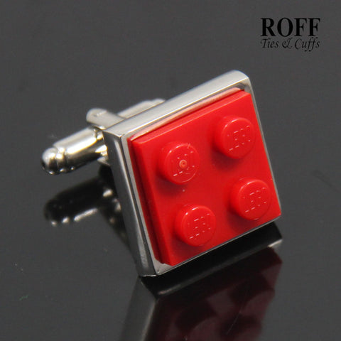 Colour Brick Cufflinks (Red)