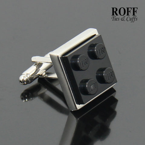 Colour Brick Cufflinks (Black)