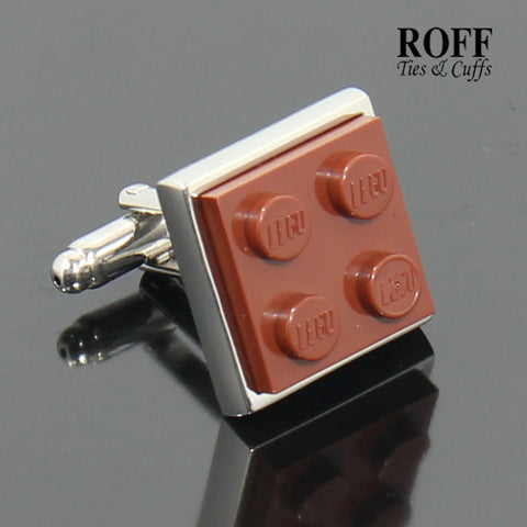 Colour Brick Cufflinks (Brown)