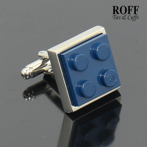 Colour Brick Cufflinks (Navy Blue)