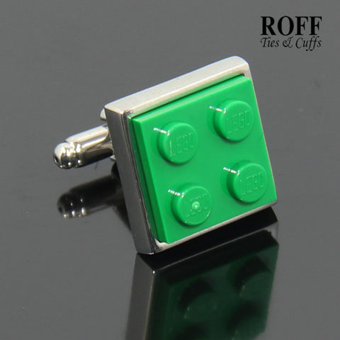 Colour Brick Cufflinks (Green)
