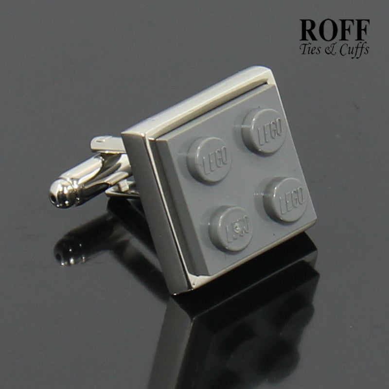 Colour Brick Cufflinks (Grey)