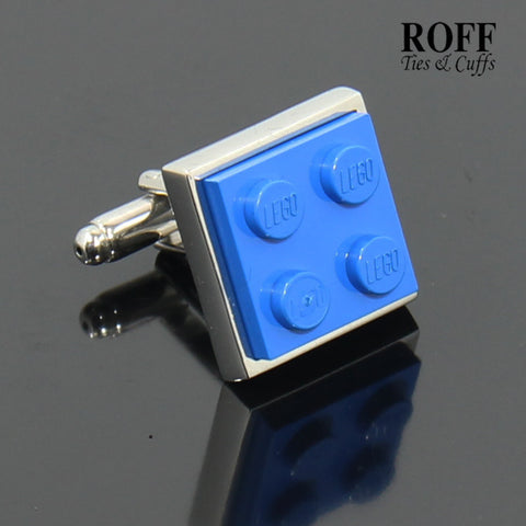Colour Brick Cufflinks (Blue)