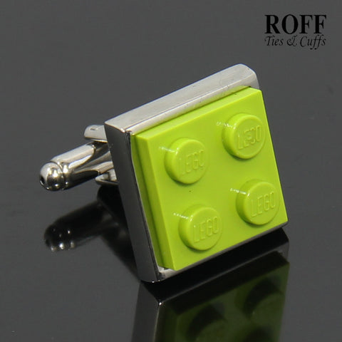 Colour Brick Cufflinks (Lime Green)