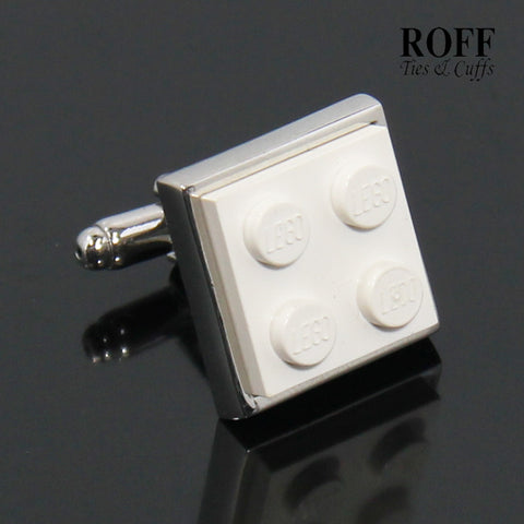 Colour Brick Cufflinks (White)