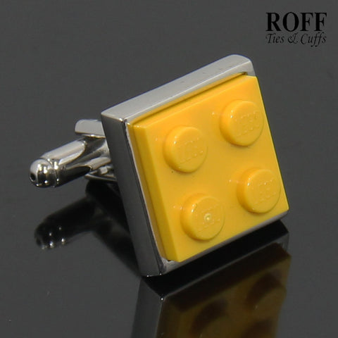 Colour Brick Cufflinks (Yellow)