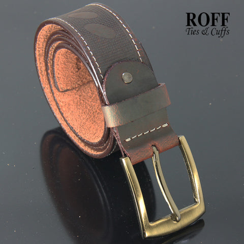 Casual Eagles Pattern Leather Belt