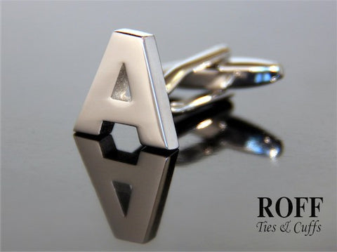 Metal Alphabet Cufflinks (A) - Read Description for Order Details