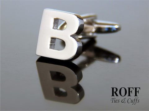 Metal Alphabet Cufflinks (B) - Read Description for Order Details