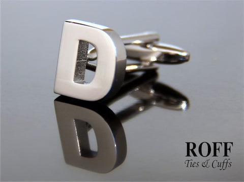 Metal Alphabet Cufflinks (D) - Read Description for Order Details