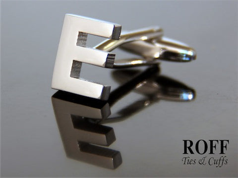 Metal Alphabet Cufflinks (E) - Read Description for Order Details