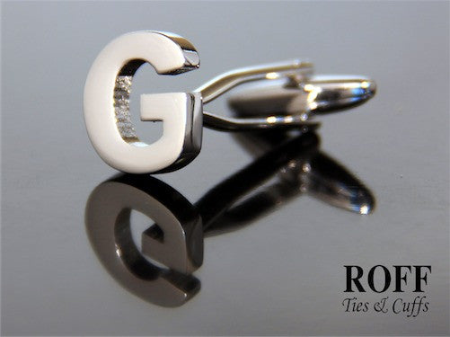 Metal Alphabet Cufflinks (G)