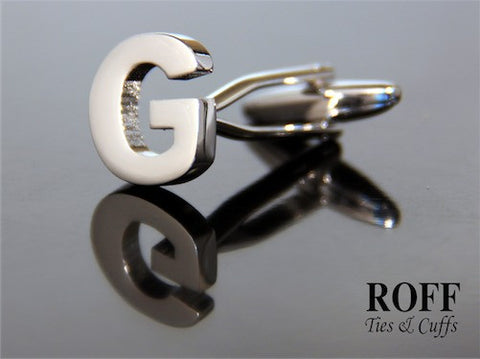 Metal Alphabet Cufflinks (G) - Read Description for Order Details