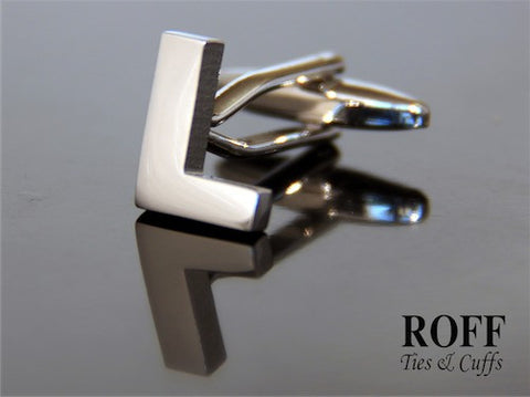 Metal Alphabet Cufflinks (L) - Read Description for Order Details