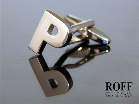 Metal Alphabet Cufflinks (P) - Read Description for Order Details