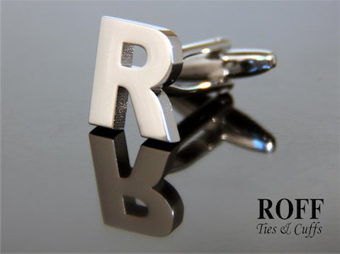 Metal Alphabet Cufflinks (R) - Read Description for Order Details