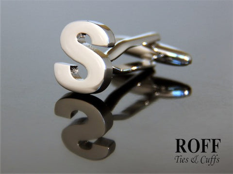 Metal Alphabet Cufflinks (S) - Read Description for Order Details