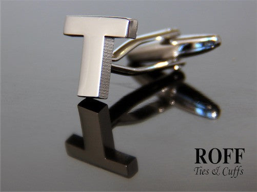 Metal Alphabet Cufflinks (T)