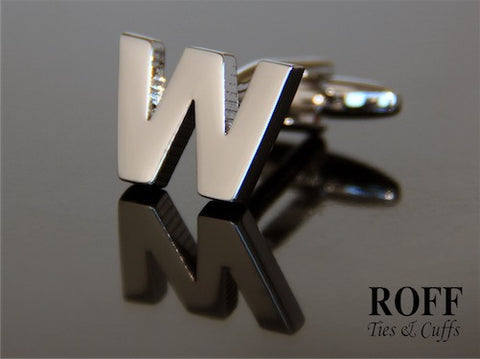 Metal Alphabet Cufflinks (W) - Read Description for Order Details