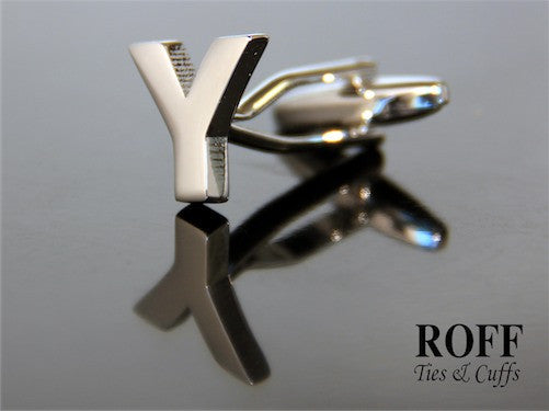 Metal Alphabet Cufflinks (Y)