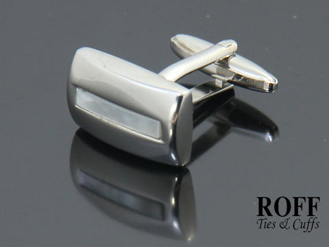 Mother of Pearl Band Cufflinks