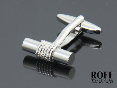 Metallic Cylinder Cufflinks